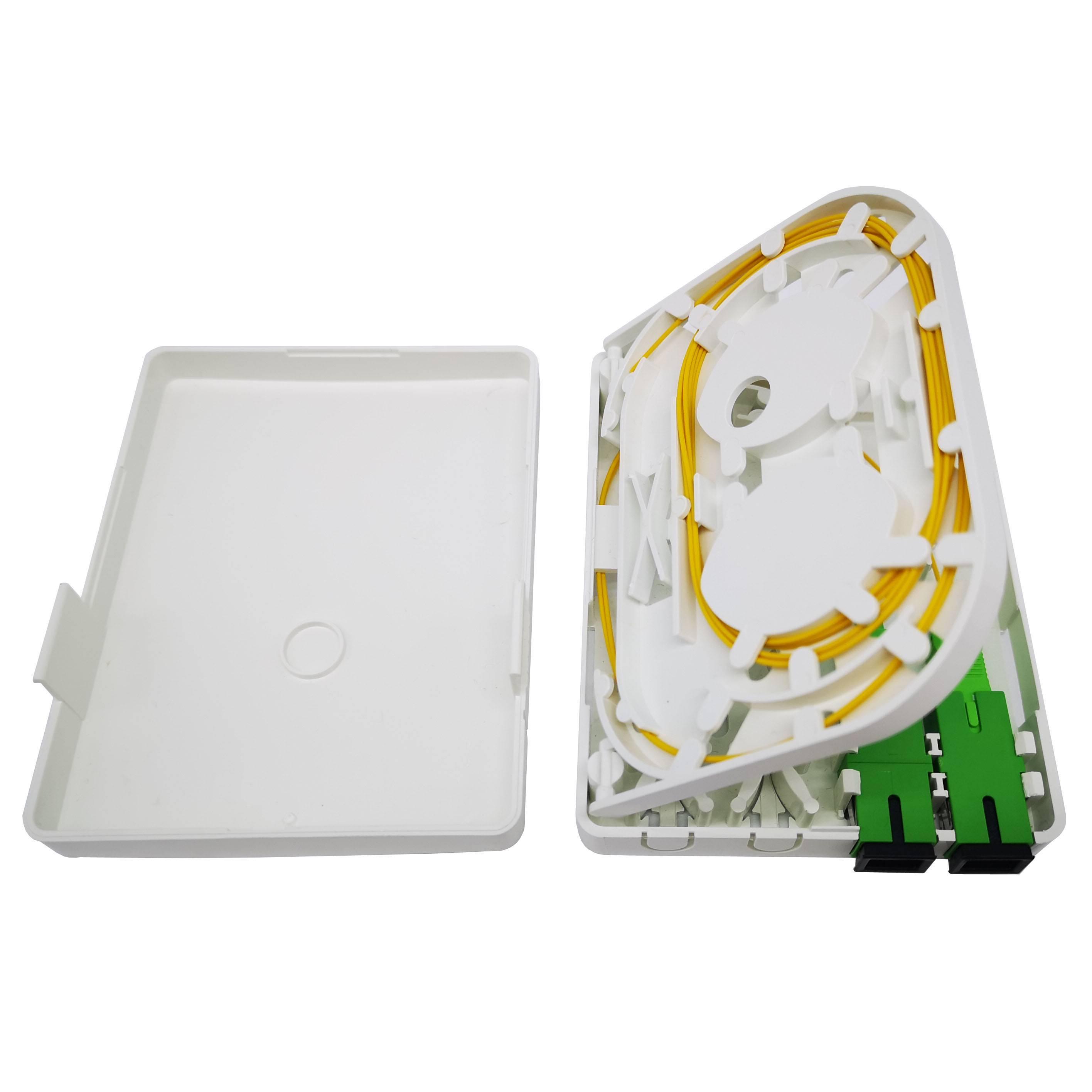 FTB86M fiber optic wall plate outlet  for 2 fibers