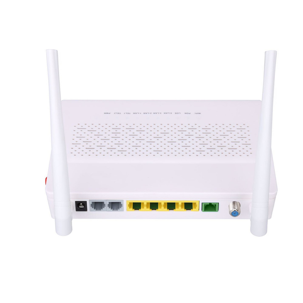 Dual frequency GPON EPON optical network unit 4GE+2POTS+WIFI 2.5G 5G+CATV