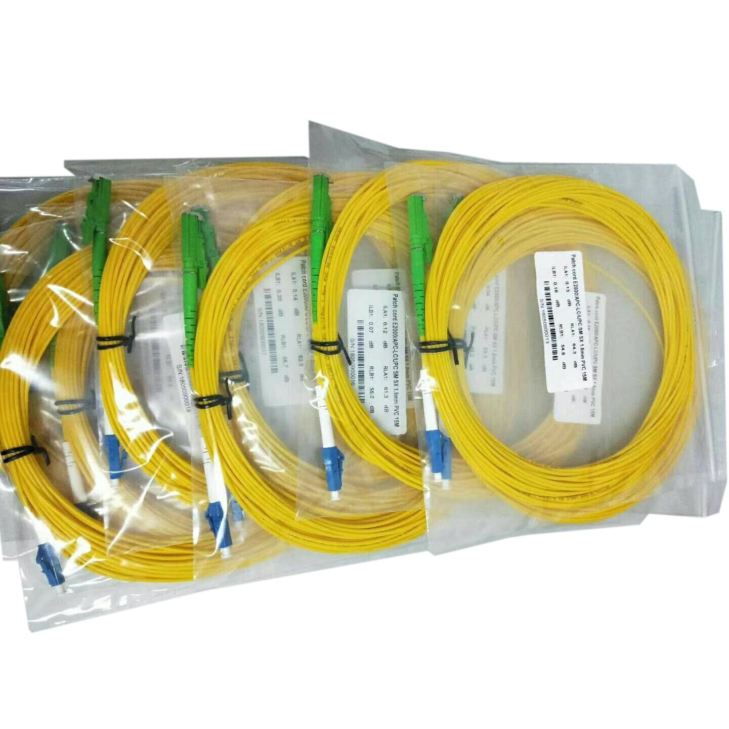 E2000 PC to LC UPC SM DX 3MM Fiber optic patch cord