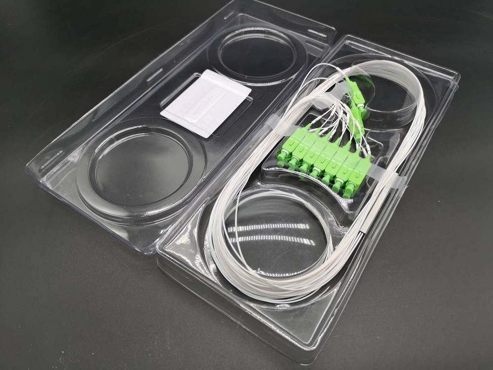 1x16 Micro PLC passive splitter fiber optic  SC-APC