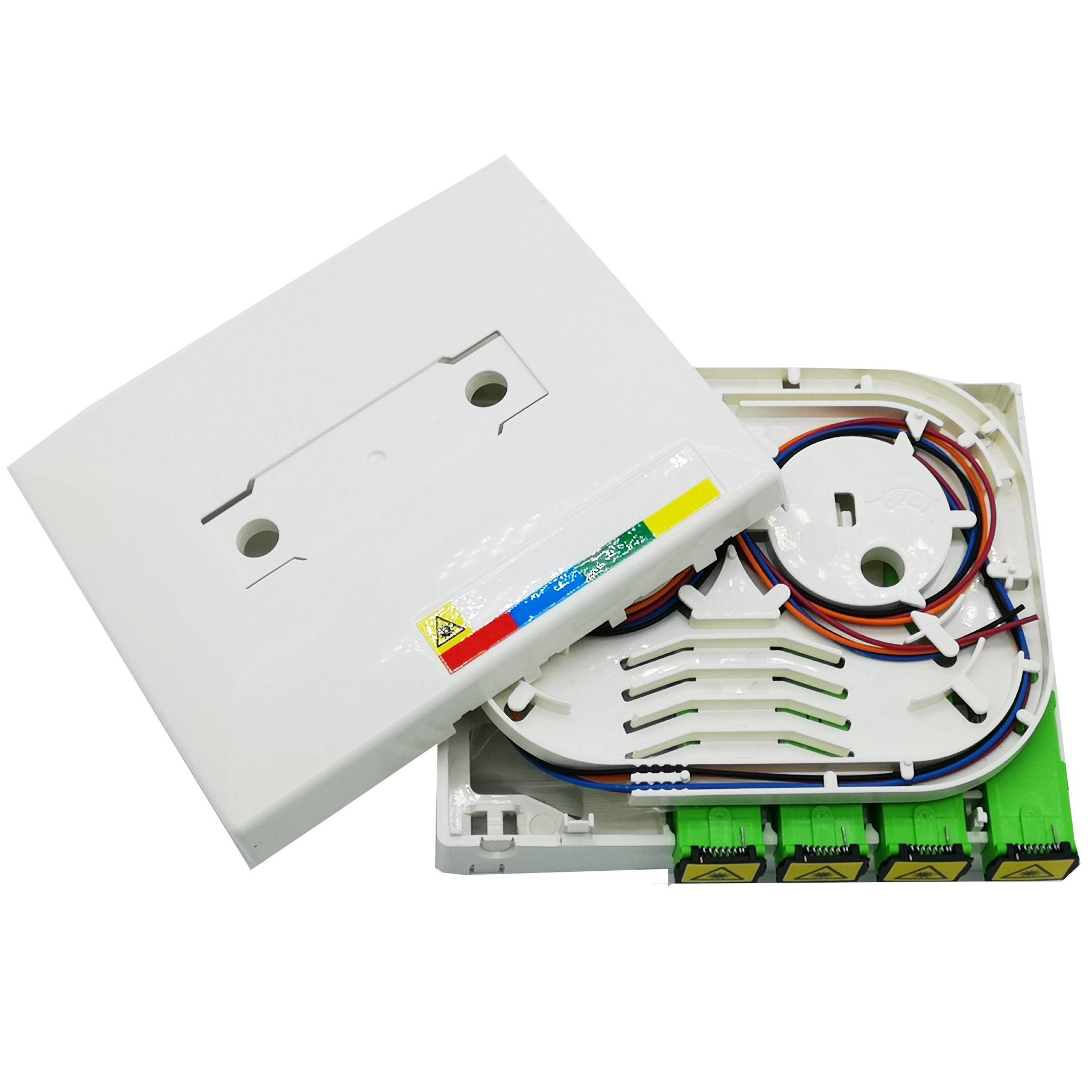 FTB104E 4 Port fiber socket panel wall mounted access terminal box