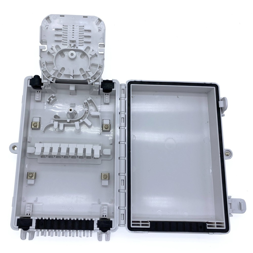 16 subscribers ftth fiber optic termination box can support uncut cable entry and exit