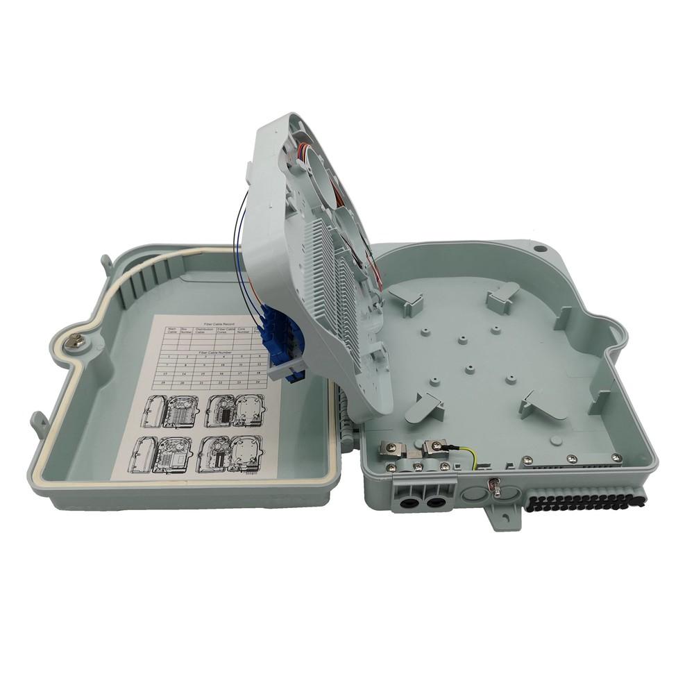 IP65 outdoor fiber optic splitter box for 1x16 MINI PLC Steel Tube splitter SC adapter holder