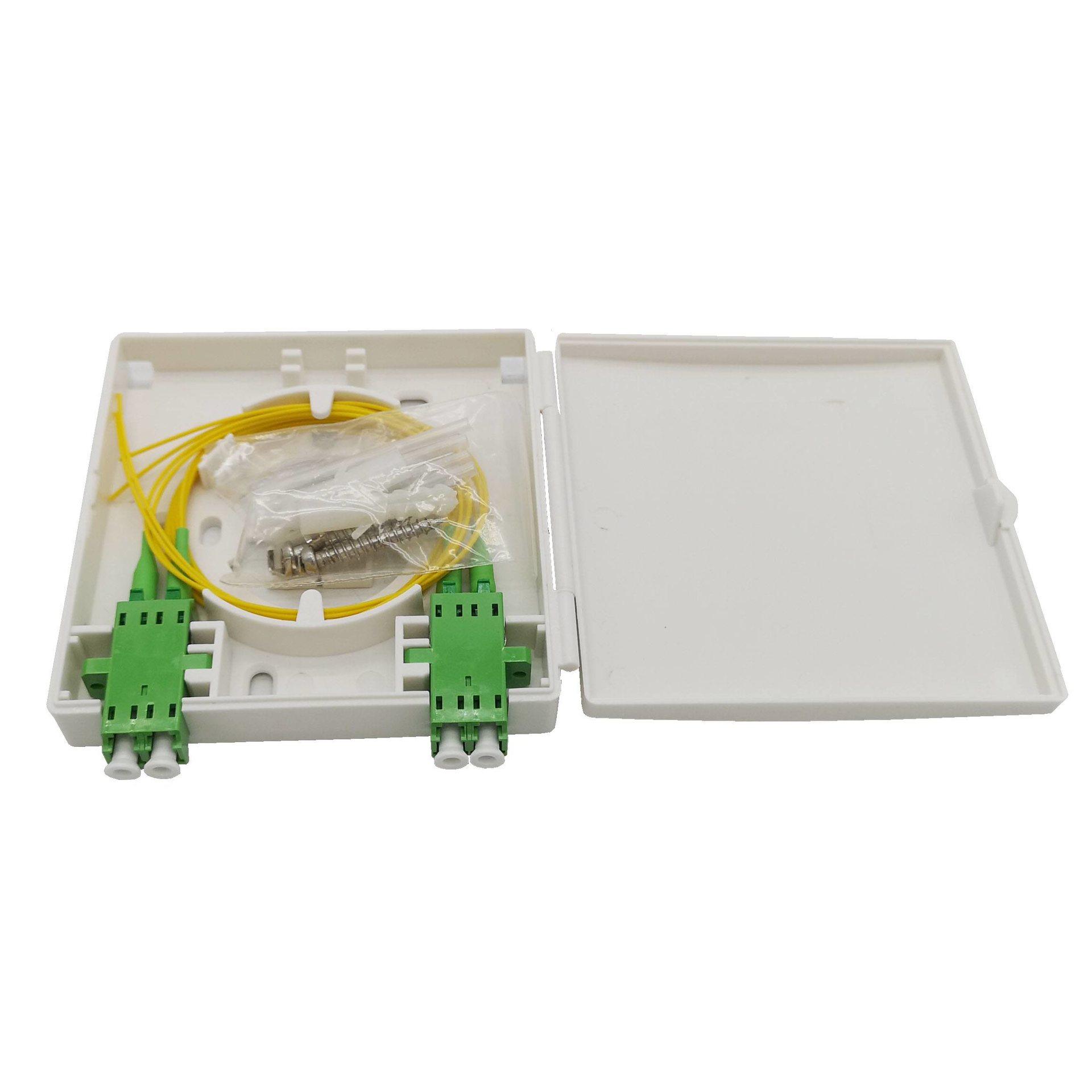 FTB86A 2 ports fiber optic wall socket box
