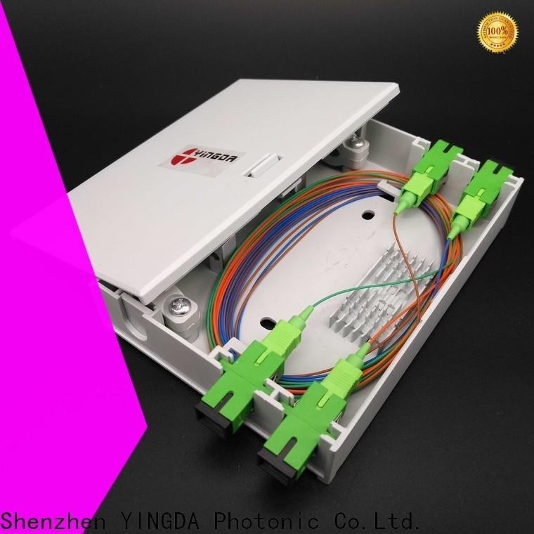 YINGDA Custom fiber optic termination box suppliers company on wall or desktop