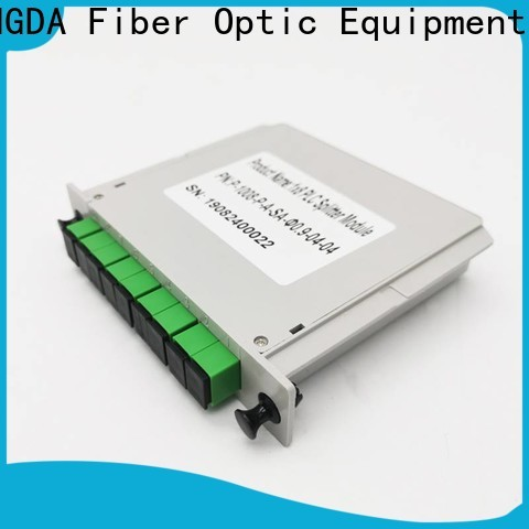 YINGDA fiber optic plc splitter factory for realize the splitting and combining of light wave energy